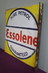 Essolena Pure Petrol Doubled Sided Enamel Advertising Sign