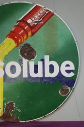 Essolube Double Sided Enamel Advertising Sign