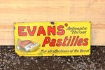 Evans Pastilles Enamel Advertising Sign