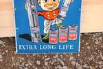 Eveready Pictorial Enamel Sign