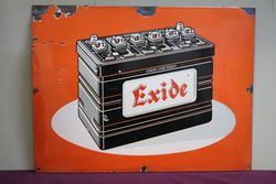 Exide Battery Enamel Advertising Sign