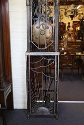Extremely Rare French Iron Cased Comptoise Clock 76 Tall C1900