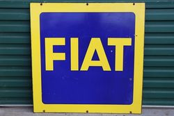 FIAT Double Side Enamel Advertising Sign