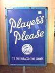 FRAMED PLAYERS PLEASE ENAMEL SIGN ---ST92