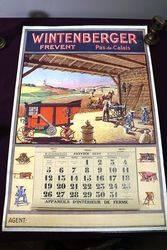 Farming Poster 1930 Wintenberger CalendarPoster