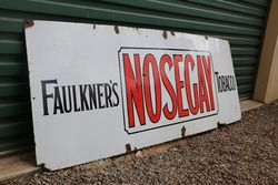 Faulknerand39s  Nosegay Tobacco Enamel Advertising Sign