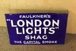 Faulkners London Lights Post Mount Double Enamel Sign
