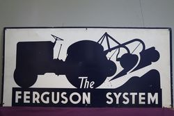 Ferguson System Tractor Double Sided Advertising Tin Sign