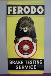 Ferodo Brake Testing Service Advertising Tin Sign