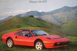 Ferrari 308 GTS Pictorial Advertising Framed Poster