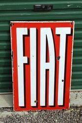 Fiat Double Sided Enamel Advertising Sign
