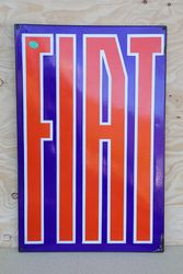 Fiat Enamel Advertising Sign