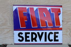 Fiat Service Enamel Advertising Sign