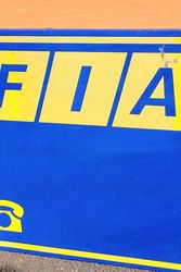 Fiat Tin Advertising Sign