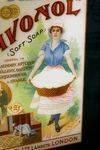 Fields Savonal Soap Advertising Glass Sign