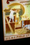 Fields Savonal Soap Advertising Glass Sign