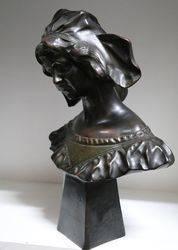 Filled Bronze Bust Signed Kanora Depose