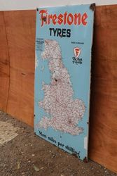 Firestone Tyres Enamel Advertising Sign