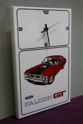 Ford Falcon GT Clock Sign