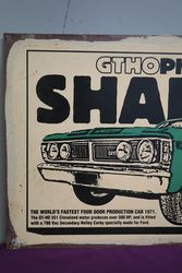 Ford GTHO Phase III Shaker Reproduction Painted Non Enamel Advertising sign