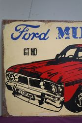 Ford Muscle GTHO Reproduction Painted Non Enamel Advertising sign