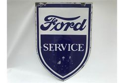 Ford Service Shield Advertising Enamel Sign