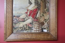 Framed 19th Century PetitPoint Embroidery