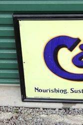 Framed Cadburys Cocoa Enamel Advertising Sign