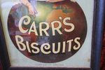 Framed Carrs Biscuits Advertising Poster