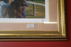 Framed Limited Edition Horse Racing Print  By Claire Eva Burton