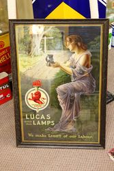 Framed Lucas Lamps Advertising Poster