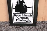 Framed PandR Hay Dyers And French Cleaners Doubled Sided Enamel Sign