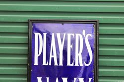 Framed Players Cigarette Enamel Sign