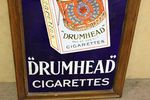 Framed Players Drum Head Cigarettes Pictorial  Enamel Sign