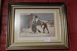 Framed Victorian Print  Signed Yeend King