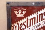 Framed Westminster Virginia Cigarettes Enamel Sign