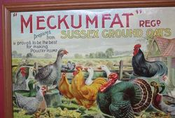 Framed and Glazed Meckumfat Sussex Ground Oats Pictorial Advertising Card