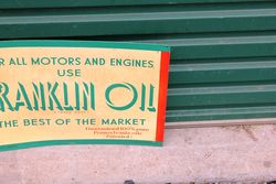 Franklin Motor Oils Tin Advertising Sign
