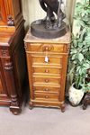 French 19th Century Multi Drawer Bedside Cabinet