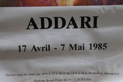 French Art Poster Addari Paris 1985