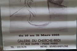 French Art Poster Hureaux  Paris 1985