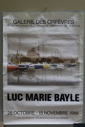 French Art Poster Luc Marie Bayle  Paris 1986