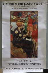 French Art Poster Tableaux Post Impressionnistes Paris 1987
