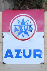 French Azur Enamel Advertising Sign