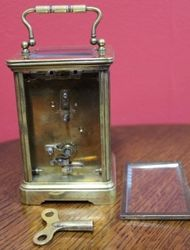 French Brass 8 Day Carriage Clock C1900