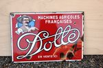French Dolle Pictorial Enamel Sign