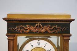 French La Haye 4 Beveled Glass Bronze Crystal Regulator Clock