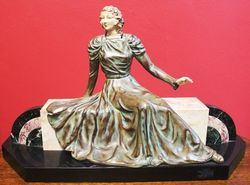French Marble and Spelter Figure