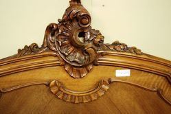 French Provincial Walnut Double Bed