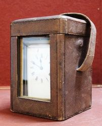 French Repenter Carriage Clock With Original Case Dated July 1885